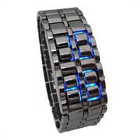 Наручные часы led браслет железный самурай, лэд,  (реплика)