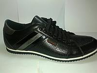 Туфли мужские летние спортивного стиля Tonkelli черные, р 39-43