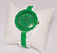 Женские наручные силиконовые часы Geneva с камнями, Женева, Украина