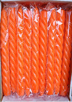 Свеча оранжевая декоративная крученая (1шт)
