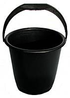 Ведро пластмассовое 10 литровое чёрное