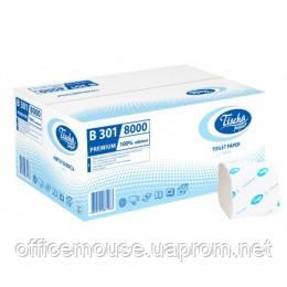 Туалетний папір у пачках біла 2слойная 11,2x22,5 см,200листов