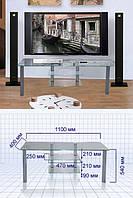 Стеклянный столик под телевизор S2