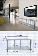 Стеклянный столик под видео и аудиотехникуS3