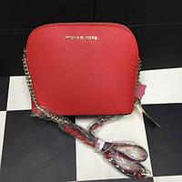 Красная кожаная сумка-клатч Michael Kors. Натуральная кожа.