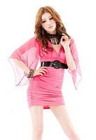 Цены по закупке. Розовое платье с шифоновыми рукавами F4035407