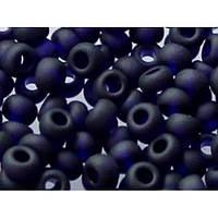 Бисер Preciosa Чехия №30110 matt 1г, синий темный, прозрачный, матовый