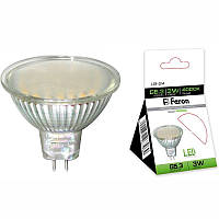 Светодиодная лампа Feron LB-24 MR16 G5.3  3W 44LEDS 4000K матовая