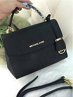 Черная женская кожаная сумка Michael Kors. Натуральная кожа