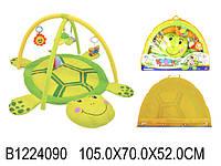 Развивающий коврик для малышей с погремушками 898-12 b/0228-1r