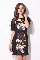 Оригинал. Полная распродажа. Черное платье Karen Millen с цветочным принтом KM70496