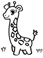 Деревянная заготовка для декупажа Жираф