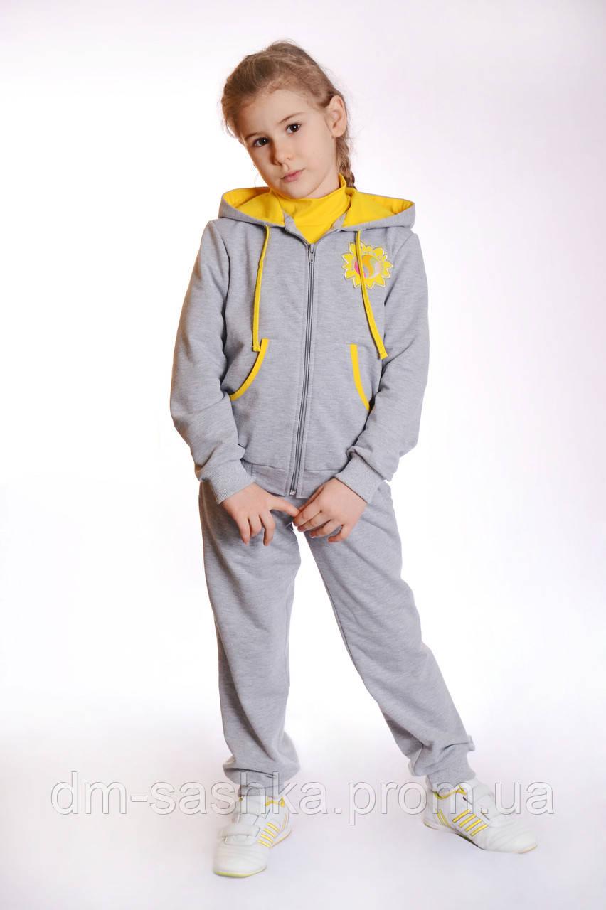 Спортивный костюм для девочки желтый