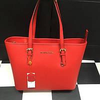 Красная кожаная сумка Michael Kors. Натуральная кожа