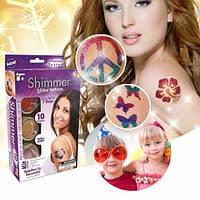 Набор для временного глиттер-тату (блестящие татуировки) Shimmer Glitter Tattoos