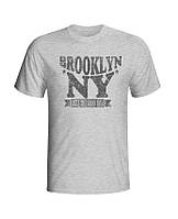 Футболка мужская хлопковая Brooklin NY серая