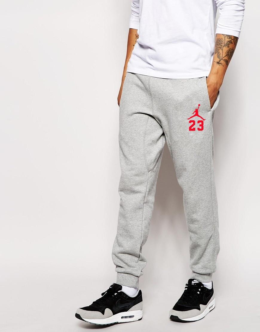 Мужские спортивные штаны Jordan (красный принт)