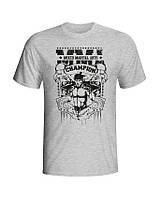 Хлопковая футболка для мужчин MMA серая