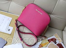 Розовая кожаная сумка-клатч Michael Kors. Натуральная кожа