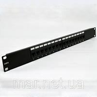 """Патч-панель 19 """" 16xRJ45 UTP, кат. 6, двойной тип"""