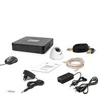 AHD комплект наблюдения на 1 купольную уличную камеру Tecsar 1OUT-DOME, 1 Мп