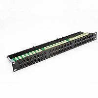 """Патч-панель 19 """"48xRJ-45 UTP, кат.6, 1U, dual type"""