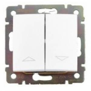 Выключатель проходной 2-клавишный 10-А  белый Valena Legrand