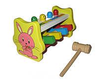 Деревянная игрушка стучалка летающие человечки Гвозди, фото 1