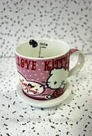 Чашка Китти с блюдцем цвет