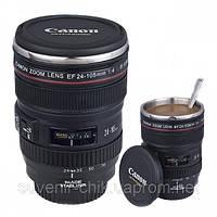 "Чашка-термос объектив ""Сanon"" EF 24-105mm с крышкой"