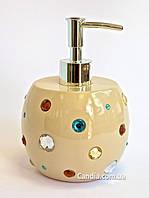 Дозатор для жидкого мыла бежевый серия Миси