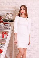 Облегающее платье мини белое р.44-48 Yam198.1
