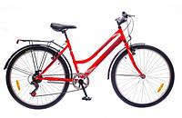 "Велосипед Discovery Prestige Woman 26"" 14G Vbr St 2016 (OPS-DIS-26-037-1) с багажником красно-серый"