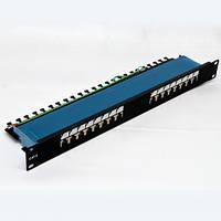 "Патч-панель 19 ""16 x RJ-45 FTP, кат. 6, dual type"