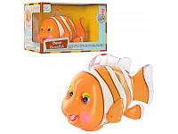 Рыбка 998 клоун 18см, ездит, муз (анг), шевел плавн, глаз и ртом, свет, на бат-ке
