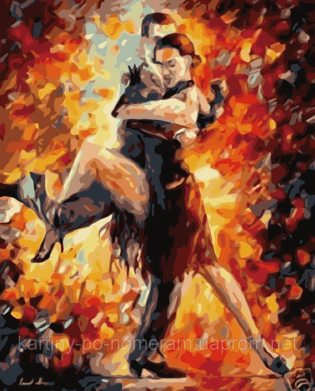 Картина по номерам на холсте без коробки BK-GX6384 Полуночное танго (40 х 50 см) Без коробки
