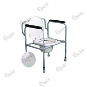 Стілець туалетний сталевий, не регульований, складаний СТС-1.1.0