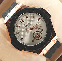 Наручные мужские часы Hublot Gold Wite, часы на подарок