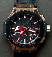Механические мужские часы Hublot Formula 1 Gold, часы Хаблот Формула 1