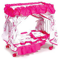 Кроватка с балдахином для кукол 9350