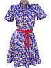 Яркие хлопковые платья на лето 42-48 (в расцветках), фото 2