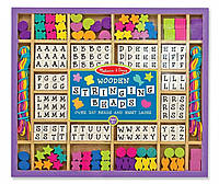Деревянный набор с бусинами (Melissa & Doug Deluxe Wooden Stringing Beads with over 200 beads)