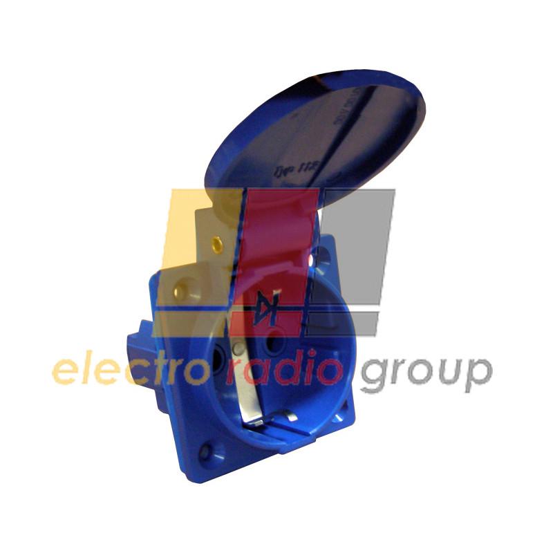 Розетка врізна ГВ 16А/2 (220В) 2P+PE (312)