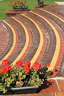 Креатив 60мм, цвет на сером цементе коричневый, красный, персиковый, горчичный, черный