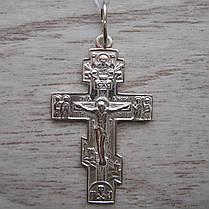 Серебряный крестик с распятием, 3,2 грамма, фото 2