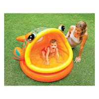 Бассейн Intex детский надувной 124*109*71 Рыбка