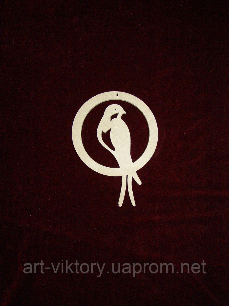 Підвіс Пташка в колі (10 см), декор