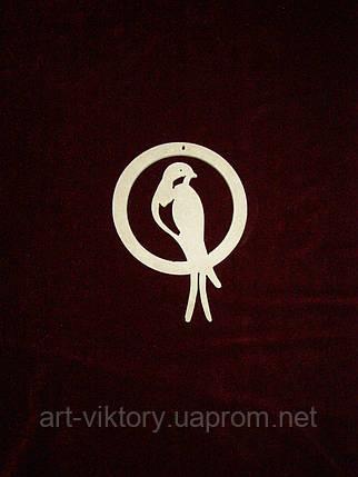 Підвіс Пташка в колі (10 см), декор, фото 2