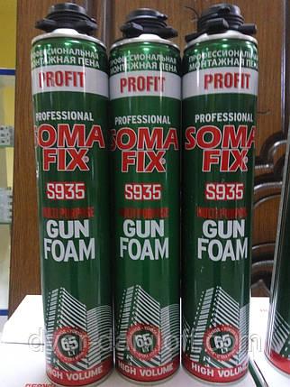 Профессиональная монтажная пена SOMA FIX profit 65 lt, 800 мл, фото 2