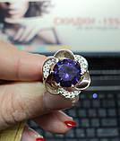 Серебряное кольцо с золотом, фото 2
